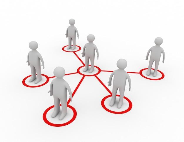 Konzept des sozialen netzwerks