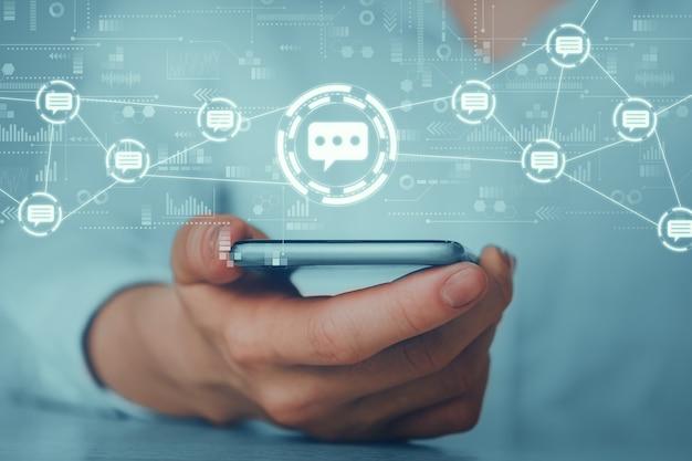 Konzept eines business messenger und einer online-chat-app.