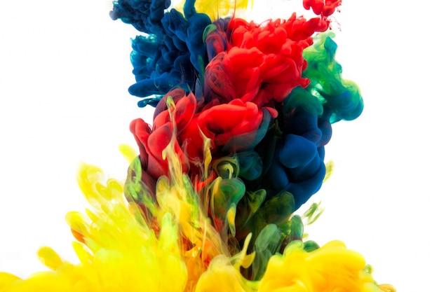 Konzept-farbabstraktion der guten idee, raummakrowelt.