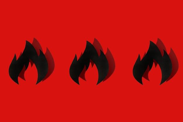 Konzept feuerwehrtag der international wichtige tag des feuers. schatten