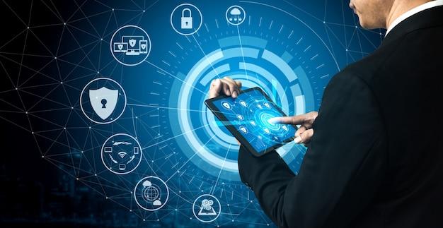 Konzept für cybersicherheit und digitalen datenschutz