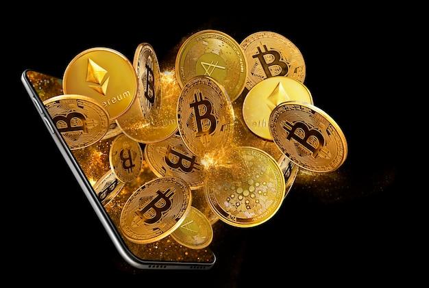 Konzept für den handel mit kryptowährungen