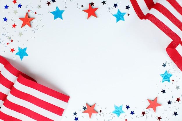 Konzept für den unabhängigkeitstag von amerika