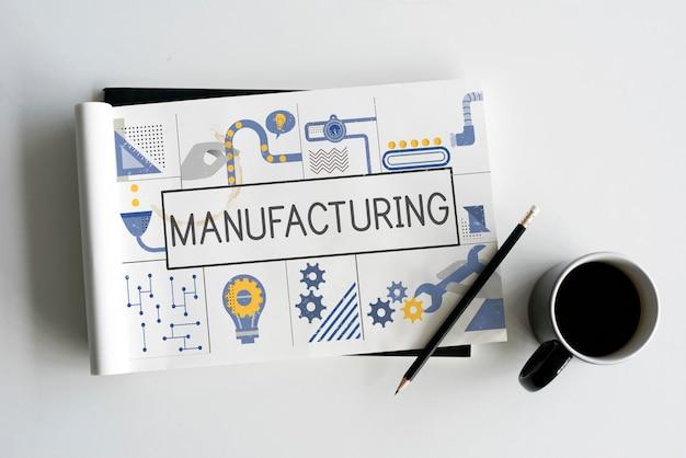 Konzept für die herstellung von ideen für die produktionsindustrie