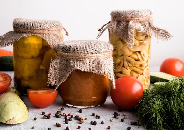 Konzept für konservierte lebensmittel