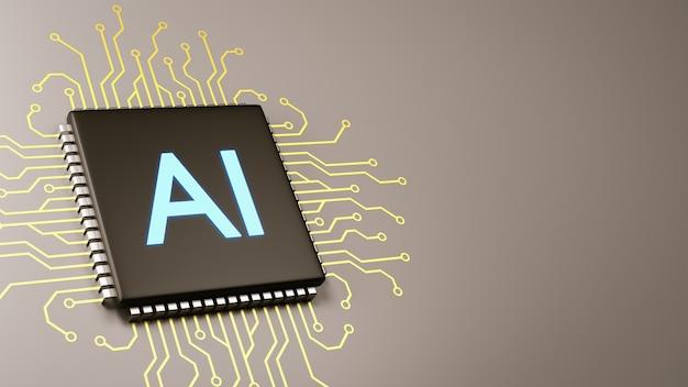 Konzept für künstliche intelligenz von computerprozessoren