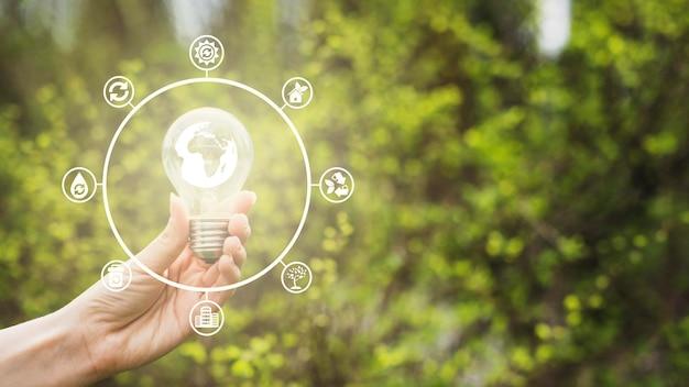 Konzept für natur und erneuerbare energien