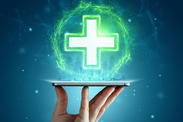 Konzept krankenversicherung, lebensversicherung.