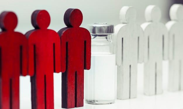 Konzept, menschen nach der impfung gesund zu machen