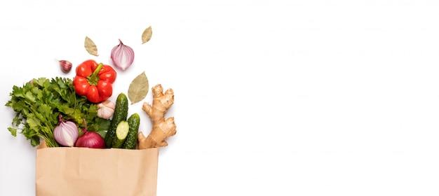 Konzept null abfall, umweltfreundlich, vegetarisch