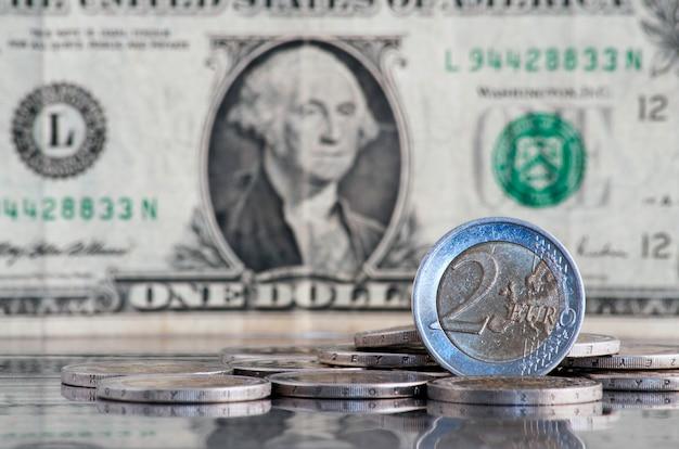 Konzept von euro und dollar