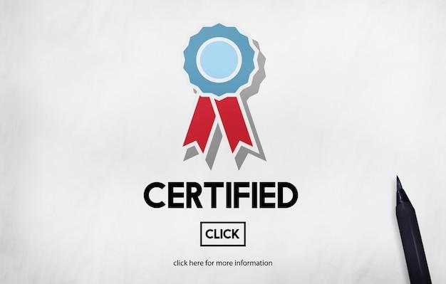 Konzept zur bestätigung der zertifizierten genehmigungsvereinbarung