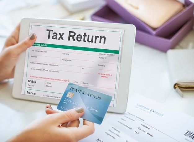 Konzept zur erstattung von einkommensteuererklärungen