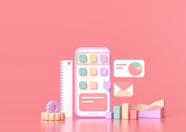 Konzept zur erstellung mobiler anwendungen.