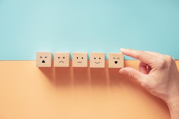 Konzepte zur bewertung des kundenservice und zur zufriedenheitsumfrage.