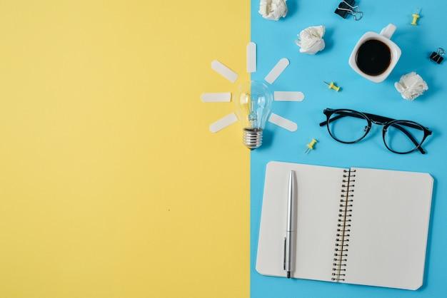 Konzeptionelle brainstorming-stillleben