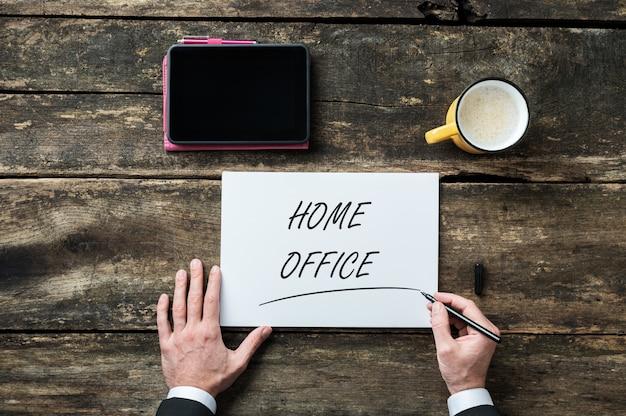 Konzeptionelles bild des home office