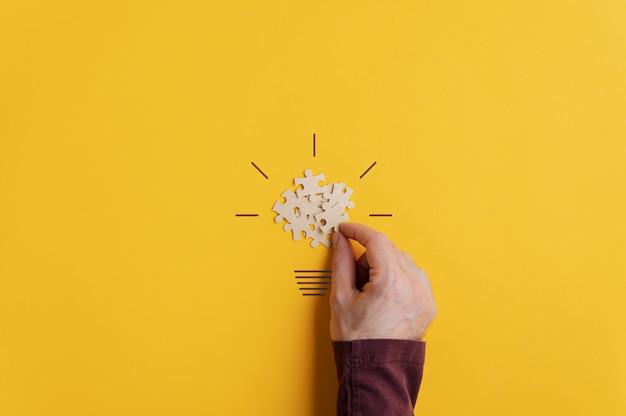Konzeptionelles bild von kreativität und idee