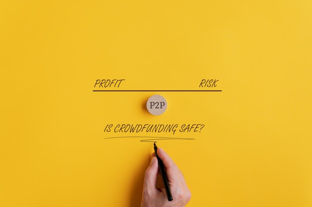 Konzeptionelles bild zur sicherheit von crowdfunding
