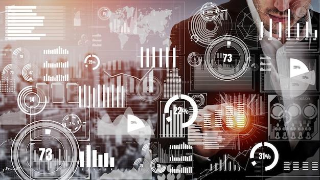Konzeptionelles business-dashboard für die analyse von finanzdaten