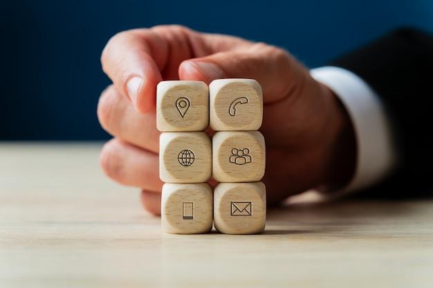 Konzeptionelles image von business support und service