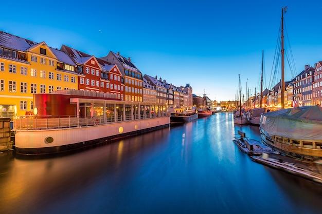 Kopenhagen nyhavn sonnenuntergang