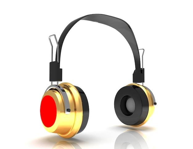 Kopfhörer 3d. symbol. isoliert auf weißem hintergrund