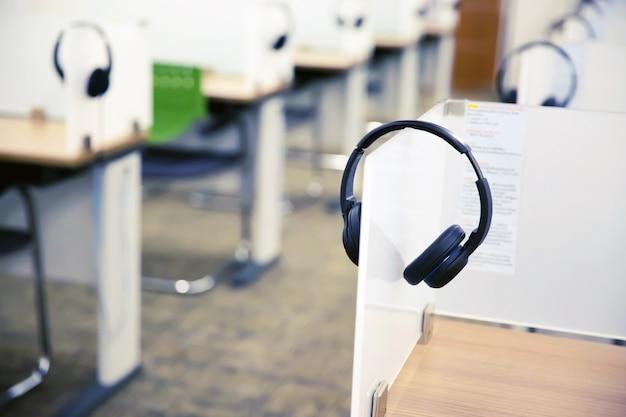 Kopfhörer für call center und hotline.