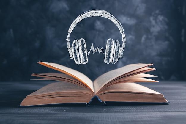 Kopfhörer hören musik oder hörbuch