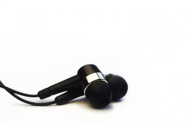 Kopfhörer, isoliert auf weiss