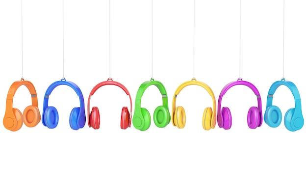 Kopfhörerfarben auf weißem hintergrund