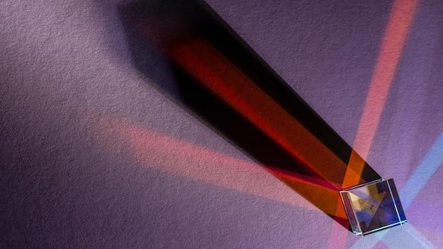 Kopierraum für regenbogenlichter mit prismeneffekt