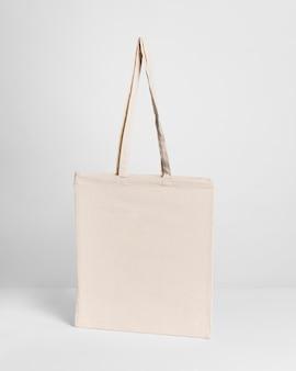 Kopierraum für stoff-einkaufstaschen in der vorderansicht