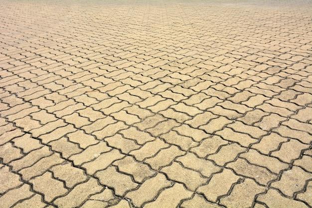 Kopierte pflasterung der fliesen, alter zementziegelsteinbodenhintergrund