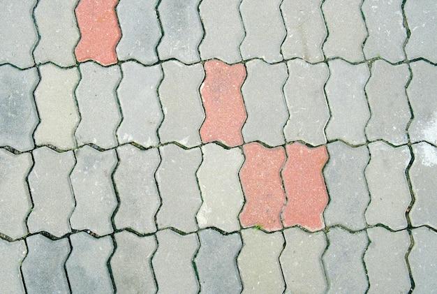 Kopierte pflasterung der fliesen, zementziegelsteinbodenhintergrund