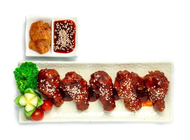 Koreanisches gebratenes huhn