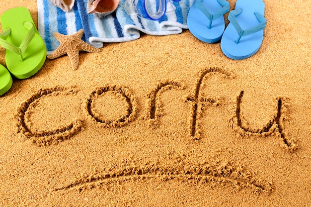 Korfu strandschreiben