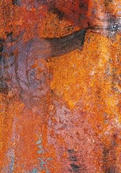 Korrodiertes und verrostetes metall
