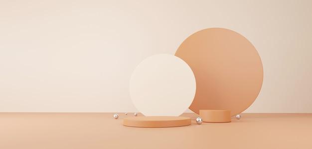 Kosmetik- und lebensmittelkonzept. minimale szene mit geometrischen formen. zylinder podium anzeige