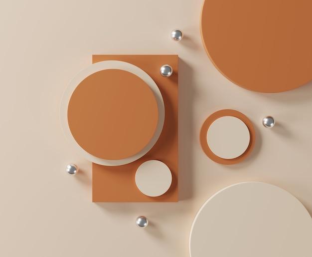 Kosmetik- und lebensmittelkonzept. minimale szene mit geometrischen formen.