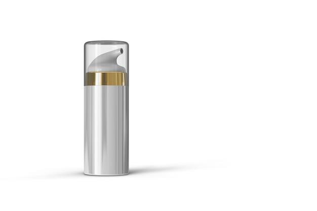 Kosmetikflasche paket 3d-rendering isoliert