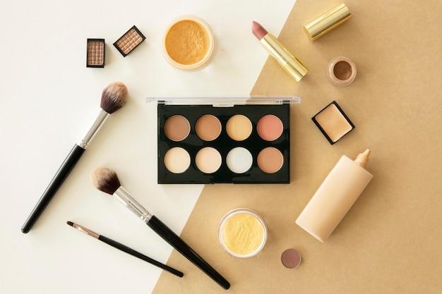 Kosmetikprodukte der schönheitsfrau