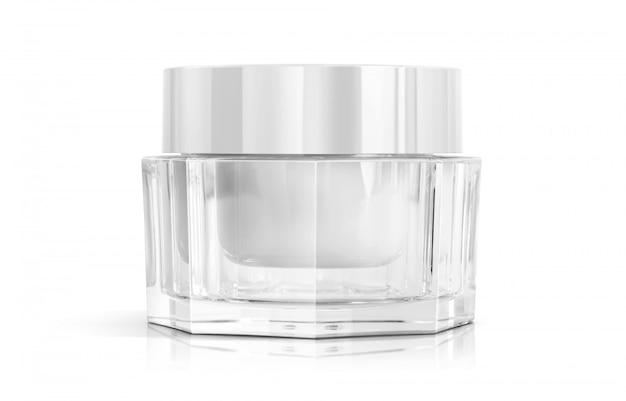 Kosmetikverpackungs-make-upcremetopf für produktdesign.