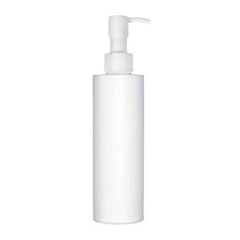 Kosmetische flasche isoliert auf weißem hintergrund