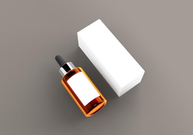 Kosmetische serum-modelle 3d rendern