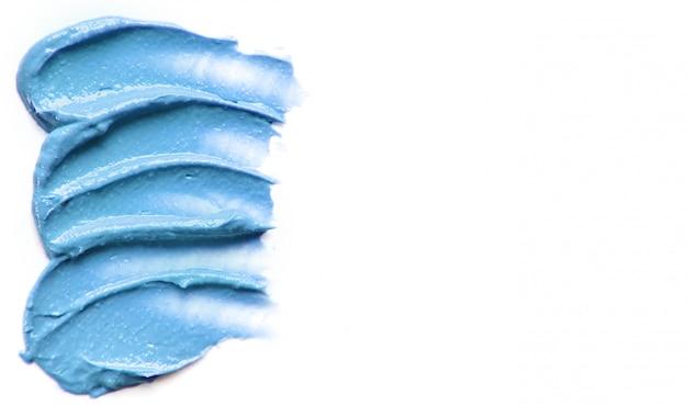 Kosmetische textur für gesicht und körper. spa selektiver fokus.