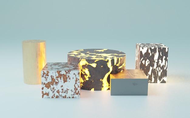 Kosmetischer hintergrund für produktpräsentation, 3d-rendering