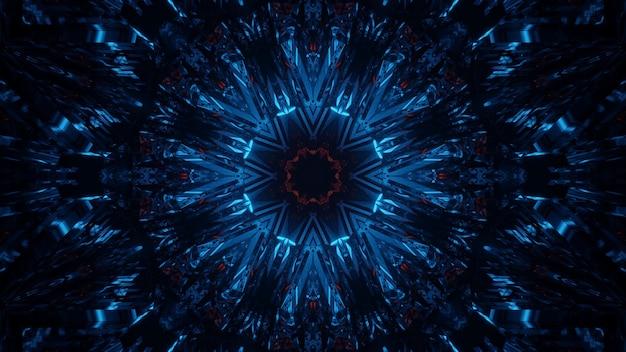 Kosmischer hintergrund mit blauen und roten laserlichtern - perfekt für einen digitalen hintergrund
