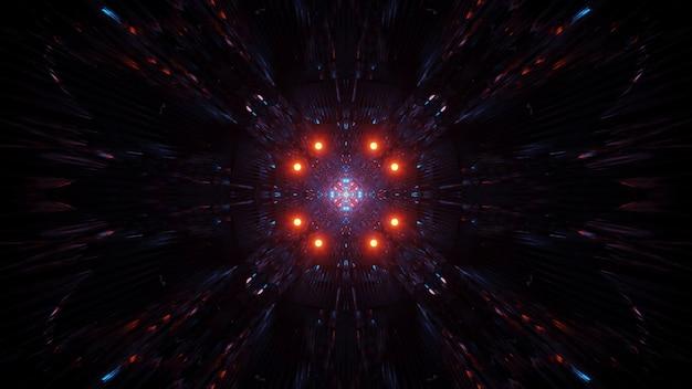 Kosmischer hintergrund mit bunten laserlichtern - eine perfekte illustration für tapeten