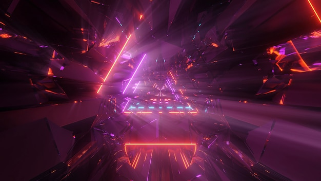 Kosmischer hintergrund mit bunten laserlichtern - perfekt für eine digitale tapete